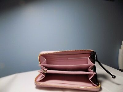 NWOT COACH PETAL PINK WALLET GATHERED LEATHER MSRP $248