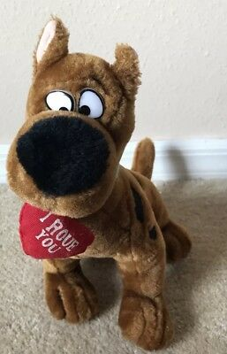 "Cartoon Network Scooby Doo Plush  ""I Rove You"" 1998 Rare Toy Love Valentines"