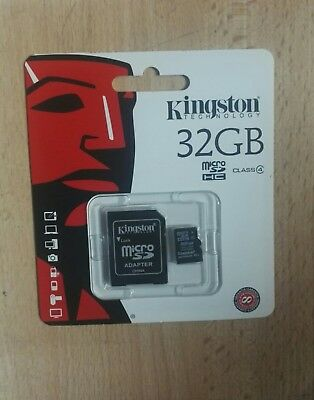 Kingston Micro SD 32GB SDHC Memory Card Microsd TF Mobile Phone Class 10 80MB/s