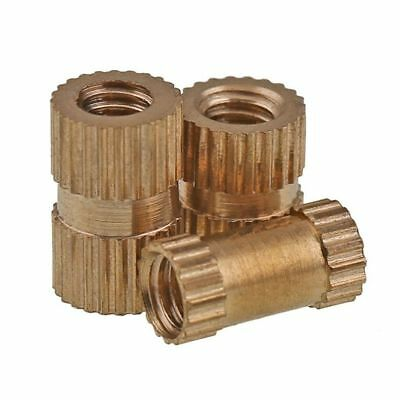 M3*3/4/5/6/8/10 Injection Copper Nuts Insert Knurled Nuts Knurling Tool x 100Pcs