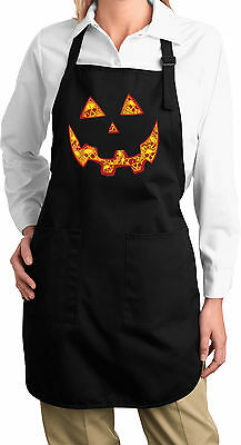 Ladies Halloween Jack O Lantern Full Length Apron with Pockets