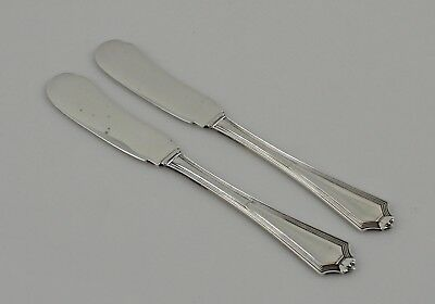 """Gorham Plymouth Sterling Silver Butter Spreaders - Set of 2 - 5 7/8"""" - No Mono"""