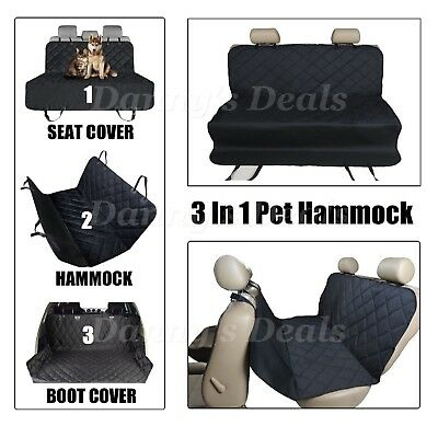 3in1 Black Quilt Pet Seat Cover Dog For Lexus IS 200 200T IS200 IS200T T 13 On