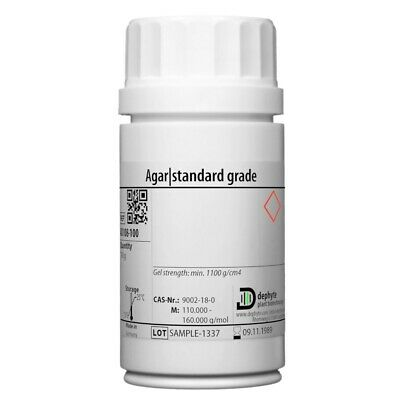 Agar   Gelling Agent - For Plant Tissue Culture and Micropropagation 100 g