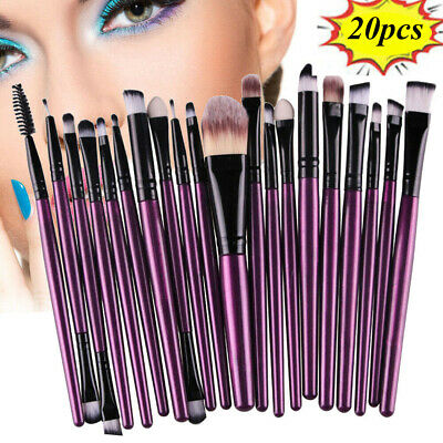 20pcs Makeup Brushes Kit Set Powder Foundation Eyeshadow Eyeliner Lip Brush Tool