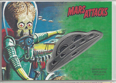 2017 Topps Mars Attacks The Revenge Flying Saucer Medallion Card #CM-IB /55