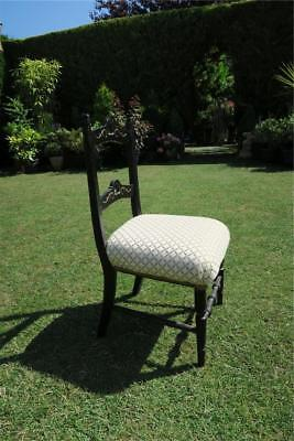 VICTORIAN CHILD'S CHAIR newly upholstered