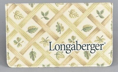 Longaberger ID License Credit Card Mini Wallet Weave Fall Leaf L1