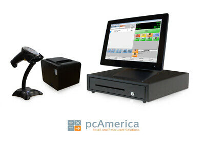 Retail Point of Sale System - Cash Register Express POS Bundle w/ LCD Display