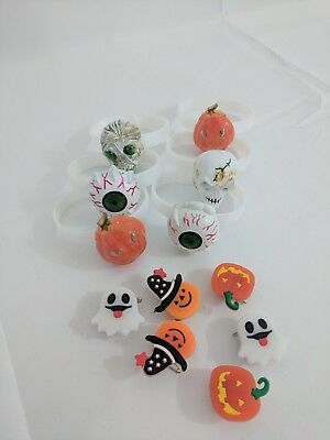 LED Halloween Flashing Pins and Bracelets Party Favor fun Mummy Pumpkin Ghost