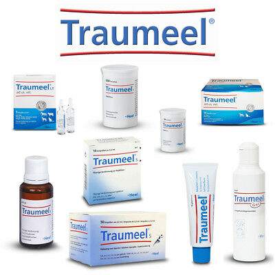 HEEL Traumeel Liquid Drops Tablets Ampoules Gel Cream Ointment