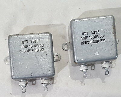 Bath Tub Style Capacitor Oil Filled 1.0 @ 1000VDC NOS Tested NYT