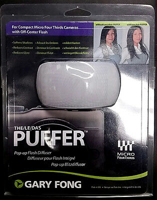 NEW Gary Fong Puffer Pop-Up Flash Diffuser PUF-M43 Micro Four-Thirds 4/3 cameras
