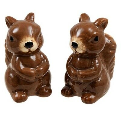 Fall Salt & Pepper Shaker 2pc Set Squirrels Halloween THANKSGIVING Autumn
