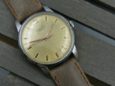 Vintage watch mens UNIVERSAL GENEVE hand wind cal. 332 military 35mm RARE