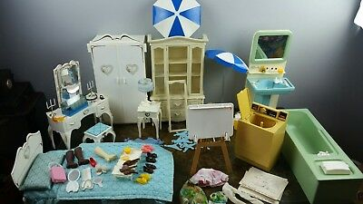 Huge Lot Of Sindy Doll 1978 Vintage Furniture & Clothes, Shoes, & Accessories