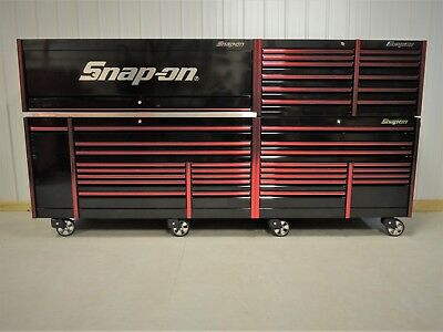 """snap on black & red mr. big 144"""" epiq tool box, stainless, chest ..."""