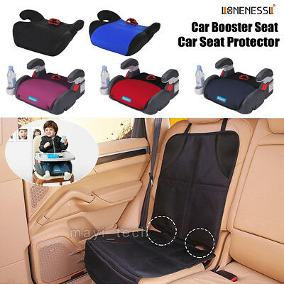 Car Booster Seat Protector Mat Cover  Anti-Slip Waterproof Safety Pad Child