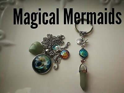 Code 379 Magical Mermaid cherry  quartz Infused Necklace Magic Myth Sea treasure