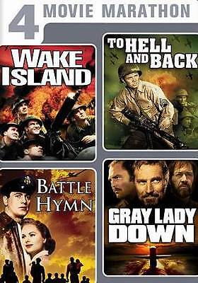 Wake Island, Battle Hymn, Gray Lady Down, To Hell and Back - New