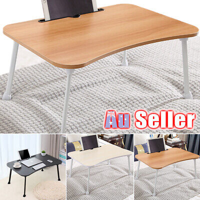 Foldable Table Laptop Trestle Tray Bed Desk Mate TV Dinner Office Portable Work