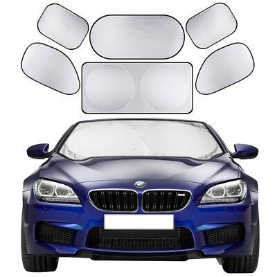 Windshield Sunshade 6 Pieces Car Sun Shade Auto Window Shades by Cosyzone UV Ray