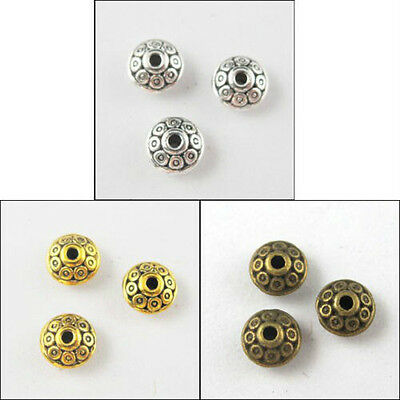 200 Silver/Gold/Bronze Tone Tiny Bicone Beads 3colors-1 7x4mm ZN663