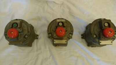 Vintage Flame Proof Cast Iron Stop Switch Salvage Reclaimed Industrial Lighting