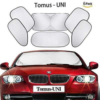 Tomus-UNI 6 Piece Car Windshield Sunshade Window Sunshade Protector Foldable Win