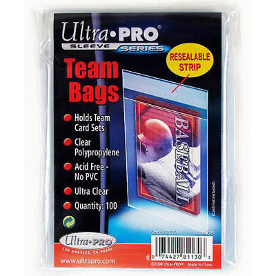 Ultra Pro TEAM BAGS 100ct Pack Resealable Card Protectors NEW