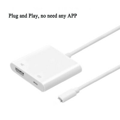 Lightning to Digital AV TV HDMI Cable Adapter For Apple iphone 6 7 8 Plus USA