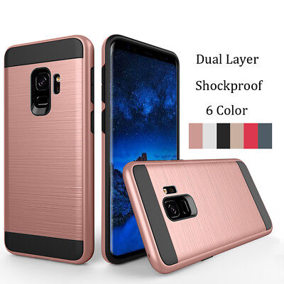 For Samsung Galaxy A8 2018 Slim Hybrid Tough Armor Case Bumper Shockproof Cover