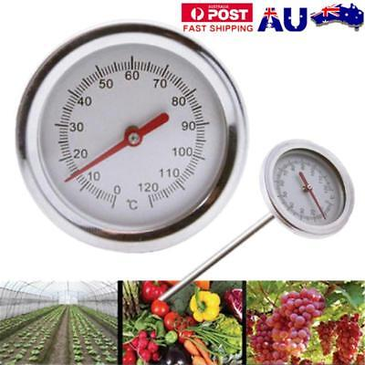 20'' 0℃-120℃ Composting Soil Thermometer Stainless Steel Metal Probe Detector