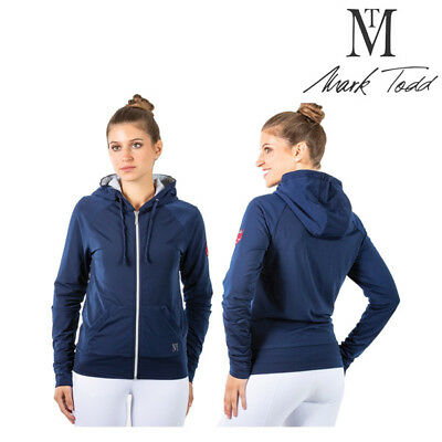 MARK TODD HOODIE FLEECE LINED LADIES NAVY sizes Xsmall to Xlarge