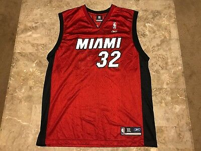 5a0747e42 canada shaquille oneal 32 miami heat nba red black reebok jersey adult size  xl 60162 797dc