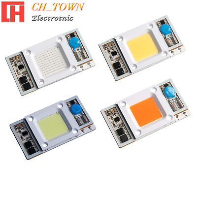 1PCS Smart IC Driver 50W LED Lights COB Chip White Floodlights Input AC110V USA