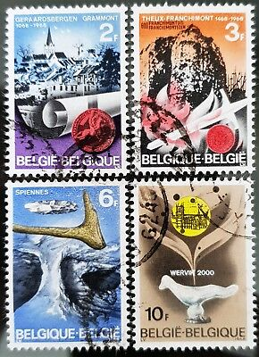 Belgium 1968 Sc # 700 to Sc # 703 Historic Sites Used NH Stamps Set Lot #2