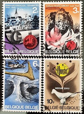 Belgium 1968 Sc # 700 to Sc # 703 Historic Sites Used NH Stamps Set Lot #4