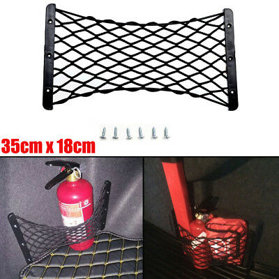 1x Storage Mesh Durable Rear Trunk Side Cargo Net For Fire Extinguisher Luggage