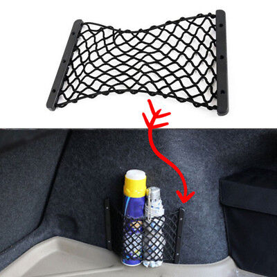 1x Rear Trunk Side Cargo Net Storage Mesh Useful For Fire Extinguisher Luggage