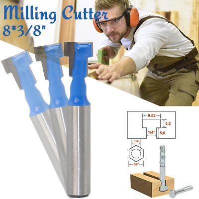 1pc 8*3/8mm Key Hole Tool 8mm Shank Wood Working Tool Router Bits Milling Cutter