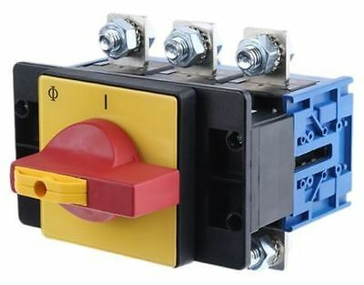3 Pole Panel Mount Non Fused Isolator Switch, 250 A, 90 kW, IP65