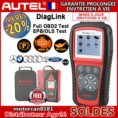Diagnostic Auto Pro Multimarque en Français Valise Diagnostique OBD2 EOBD Autel