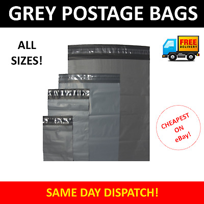 Strong Grey Plastic Mailing Postage Bags Self Seal Post Mail Lot - (CLEARANCE)