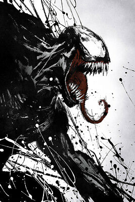 "Venom Art Poster 48x32"" 40x27"" 2018 Tom Hardy Movie Film  Print Silk #3"