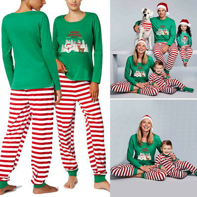 AU Christmas Family Matching Clothes Xmas Deer Sleepwear Homewear Pajamas Set