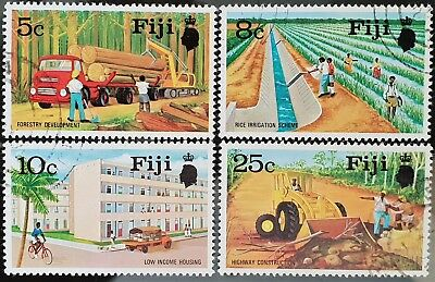 Fiji 1973 Sc # 333 to Sc # 336 Forestry Development Used NH Stamps Set