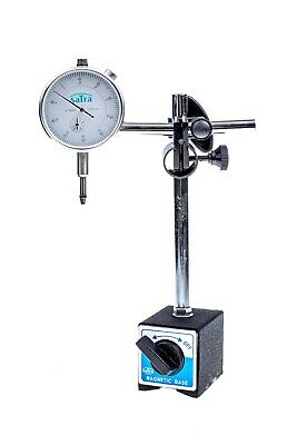 S-MAHO2 0-10mm Dial Test Indicator DTI & Magnetic Stand Holder Clock Gauge TDC