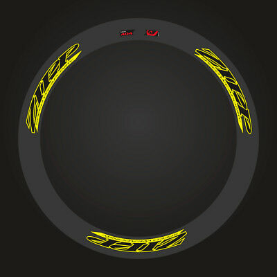 Zipp 404 Speed Weaponry Decal Set For Two Wheel  Yellow / Black