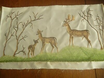 """EMBROIDERED PANEL (JAPANESE?)  18"""" x 10"""""""